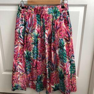 J Crew Pineapple Print Skirt